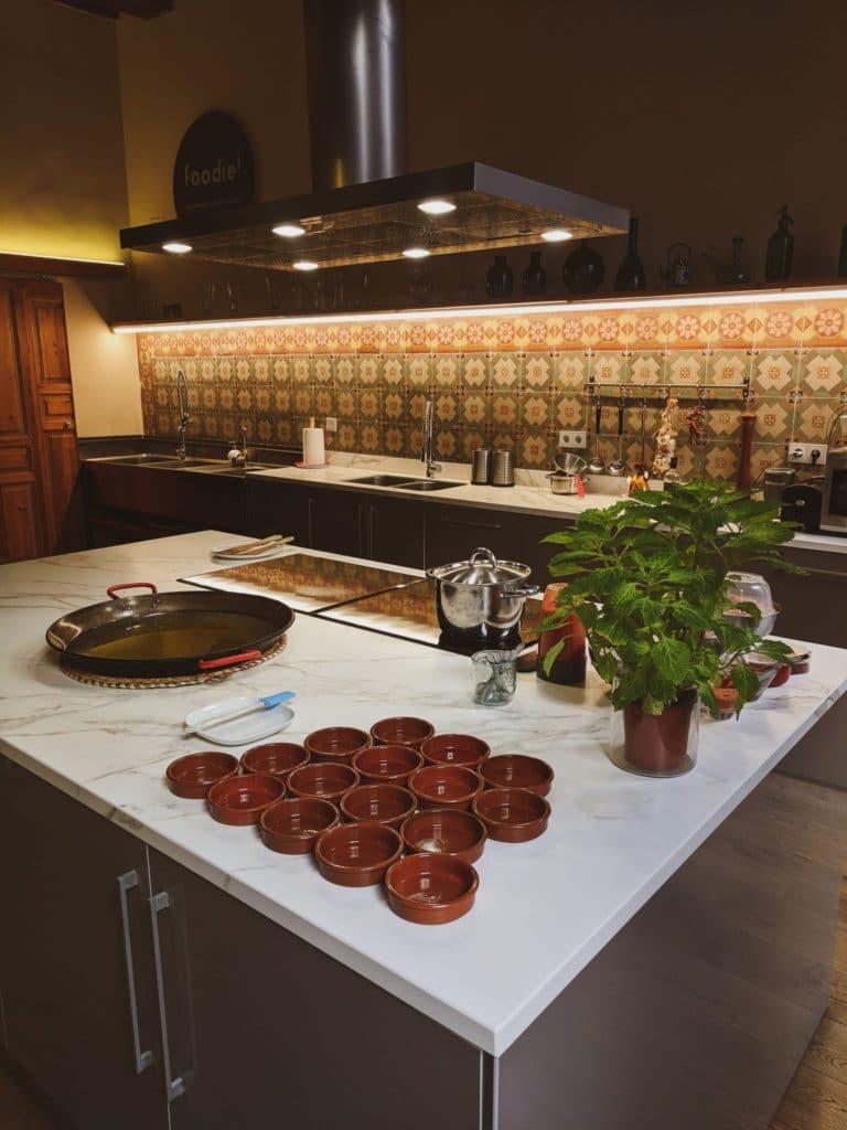 Plan de travail pour crème catalane