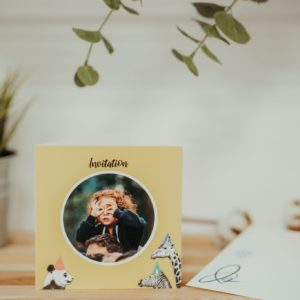 Faire-part invitation anniversaire enfant personnalisé avec Fizzer