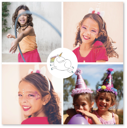 Invitation anniversaire enfant licorne