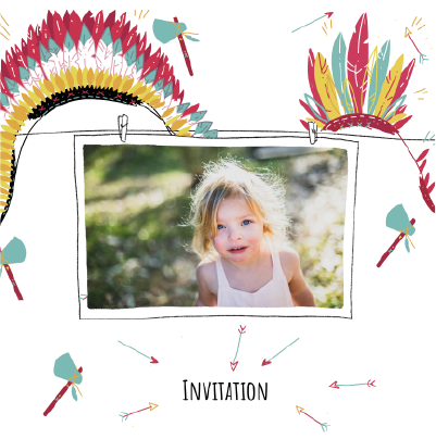 carte invitation anniversaire avec photo style indien