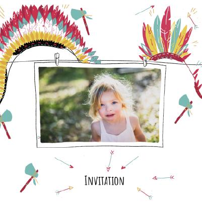 carte invitation anniversaire avec photo style indien