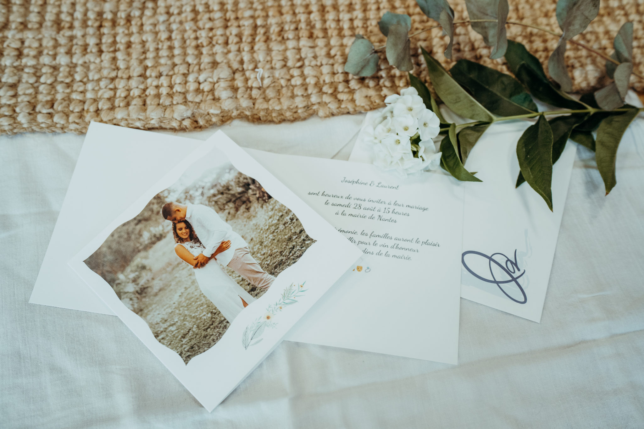 invitation mariage avec texte a l'interieur