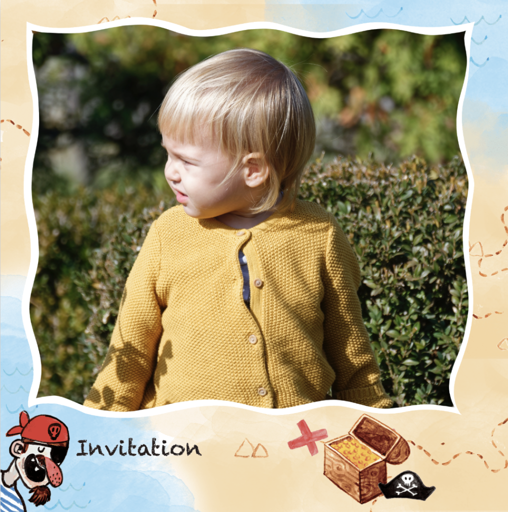 invitation enfant carte au tresor