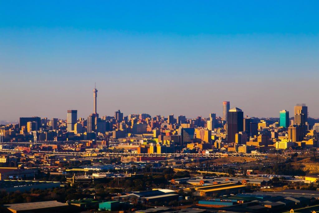 Vue sur la ville de Johannesburg