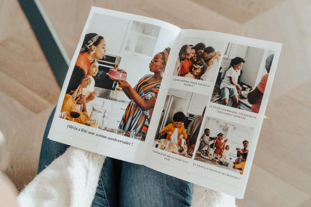 Journal personnalisable pour anniversaire avec photos
