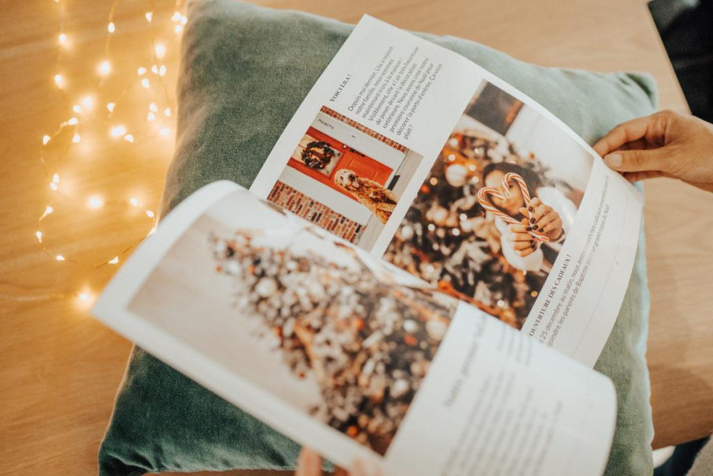 Journal personnalise de Noel avec photos