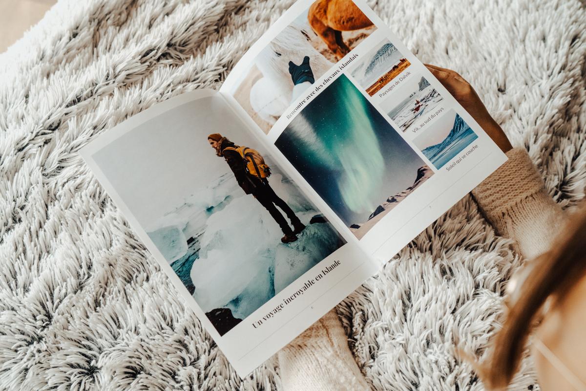 Journal avec photos de vacances
