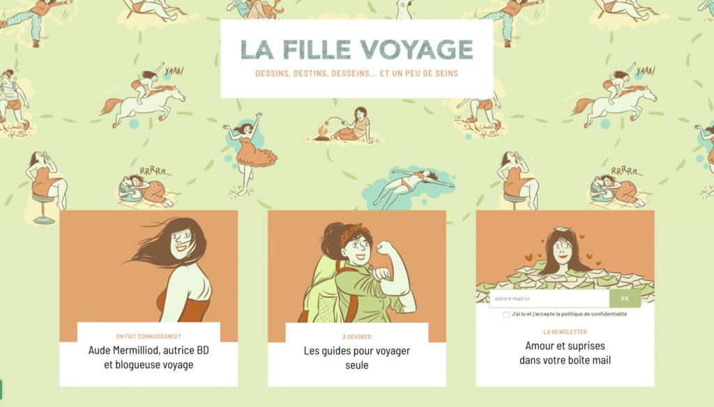 Accueil du blog voyage La Fille Voyage