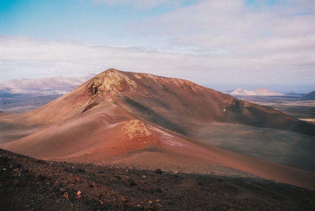 Volcan à Lanzarote, Canaries, Espagne