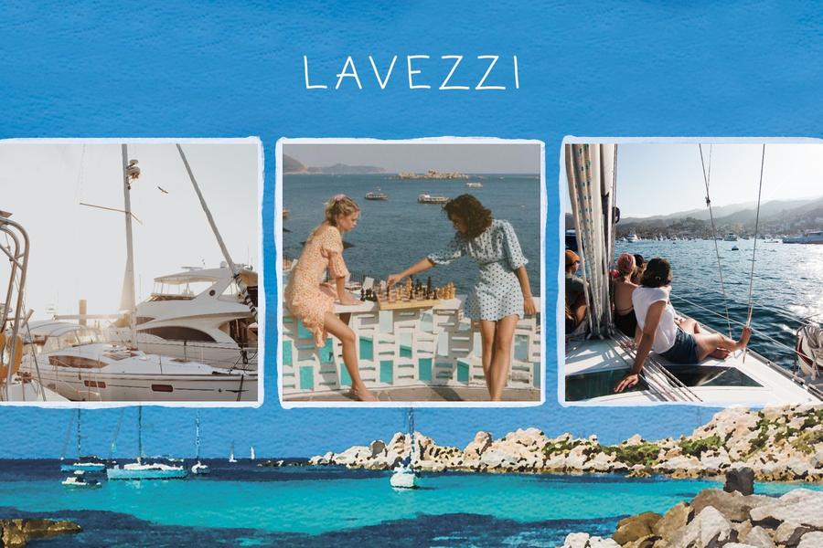Carte postale des iles Lavezzi