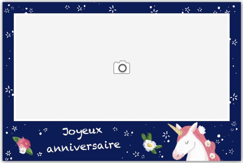 Illustration anniversaire licorne