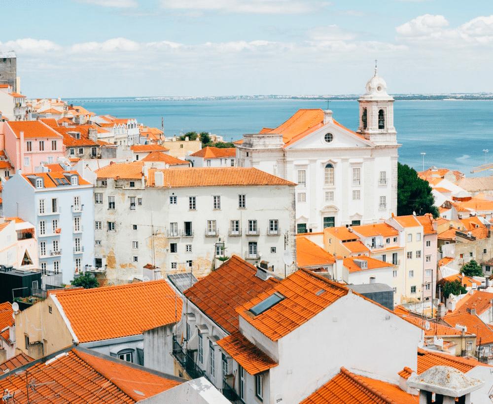 Vue sur la ville de Lisbonne, au Portugal
