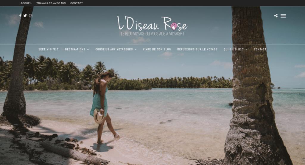Accueil du blog voyage L'Oiseau Rose