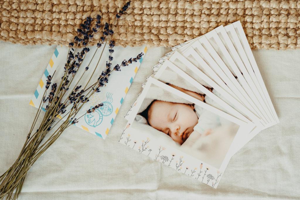 lot de cartes de remerciements pour bebe