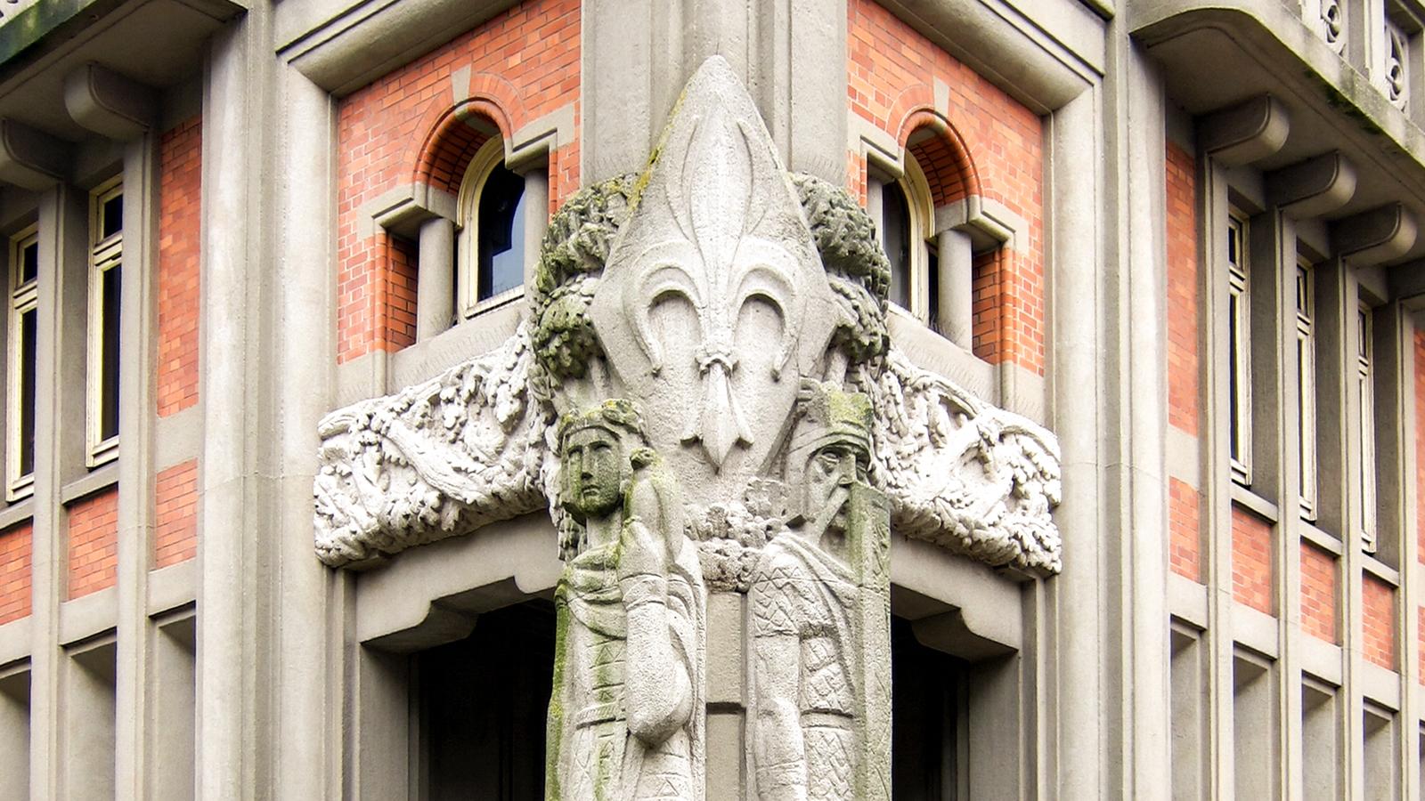 Lyderic et Phinaert geants de Lille