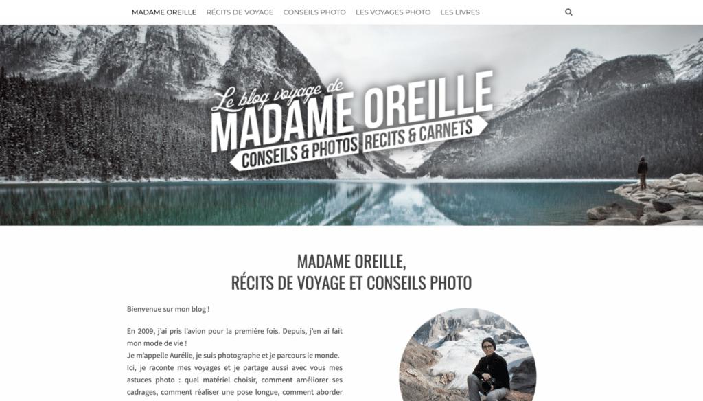 Accueil du blog voyage de Madame Oreille