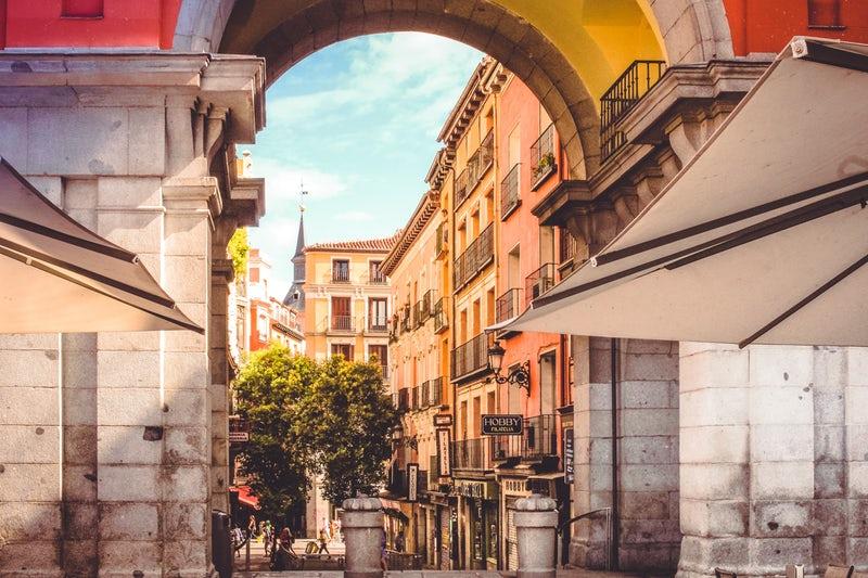 Paysage de Madrid, Espagne