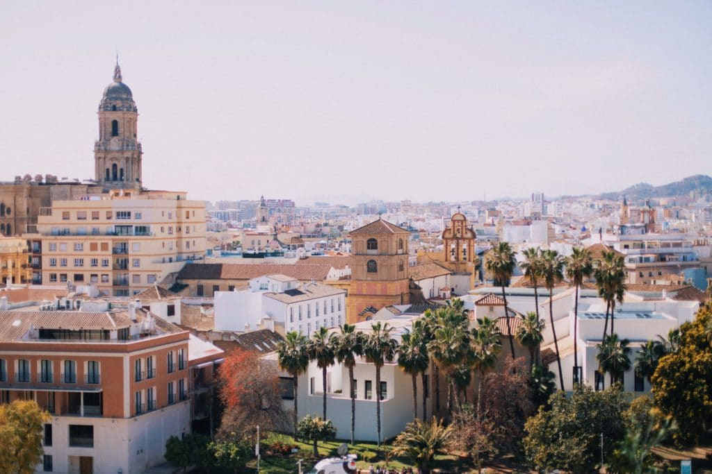 Vue sur la ville de Malaga