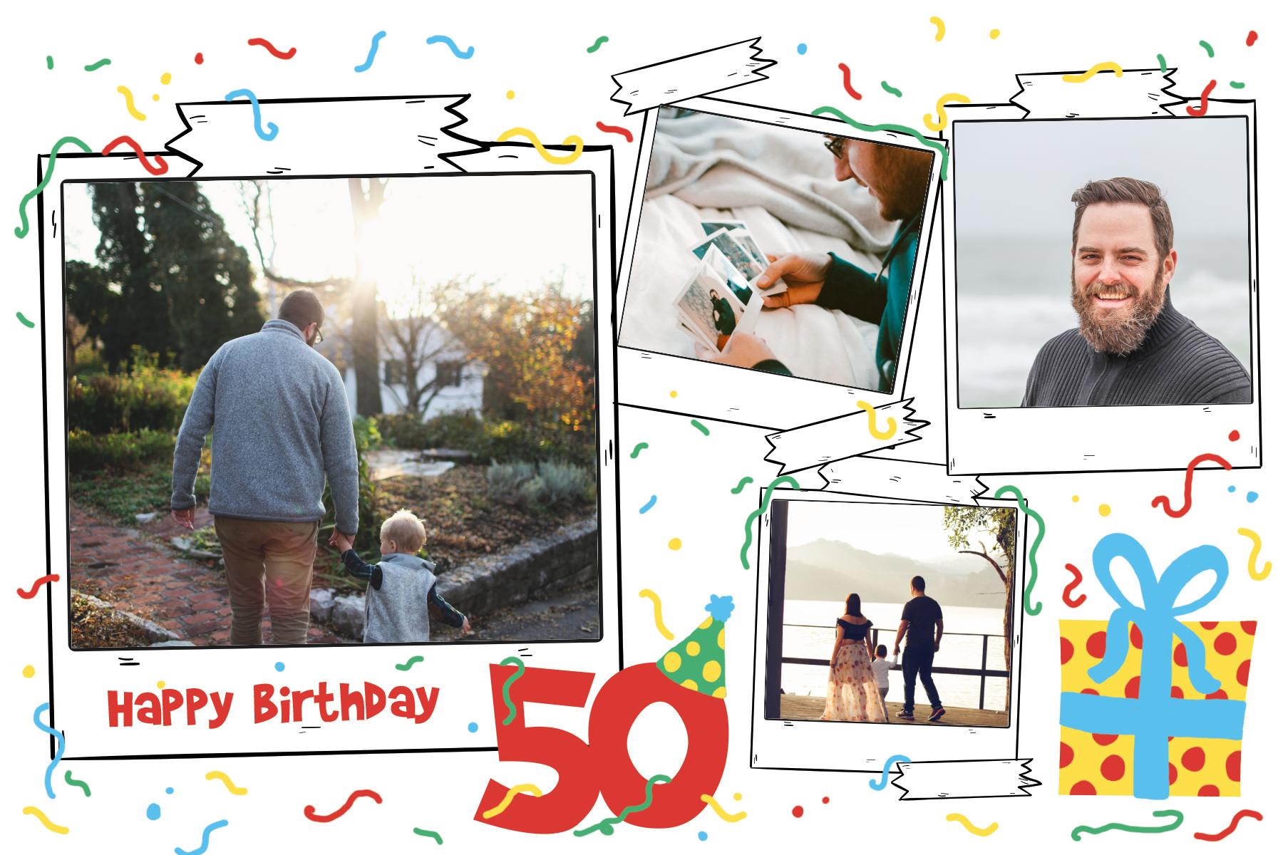 Carte anniversaire homme pour feter des 50 ans