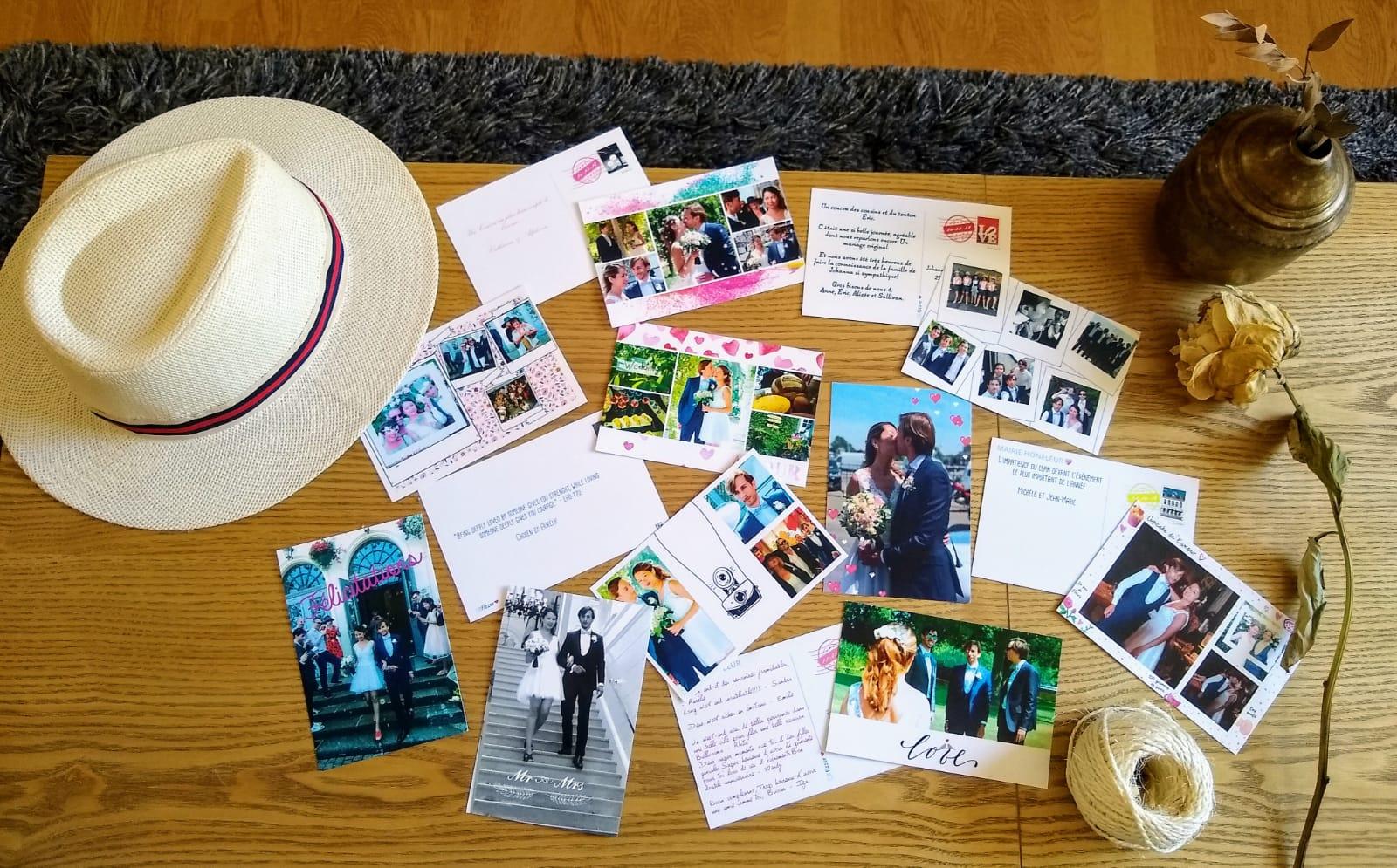 Les cartes postales de mariage envoyées par Wendy
