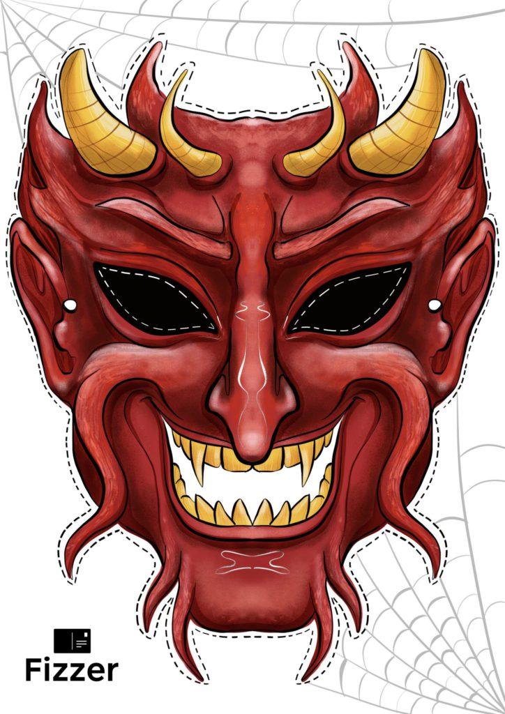 masque halloween démon Fizzer