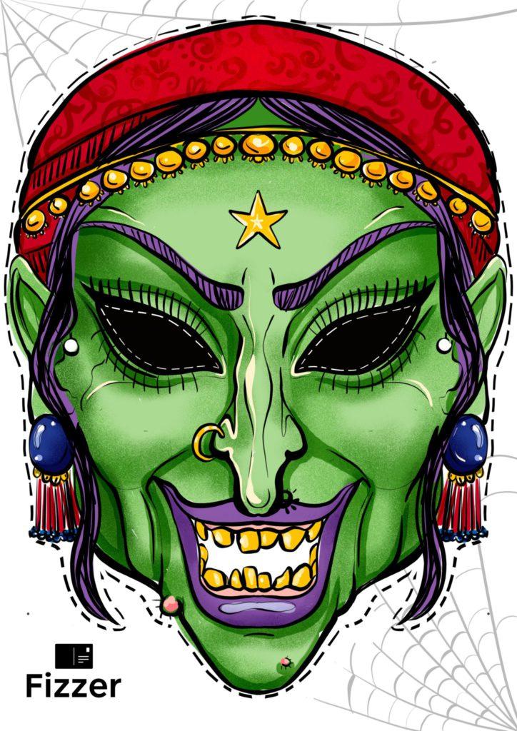 masque halloween démone Fizzer