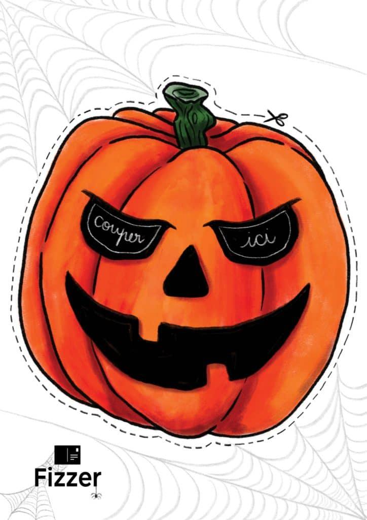 masque halloween enfant citrouille Fizzer
