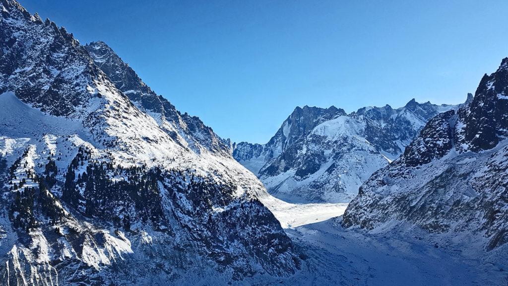 Mer de glace glacier Alpes