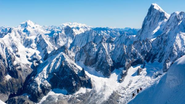 Mer de glace dans les alpes francaises
