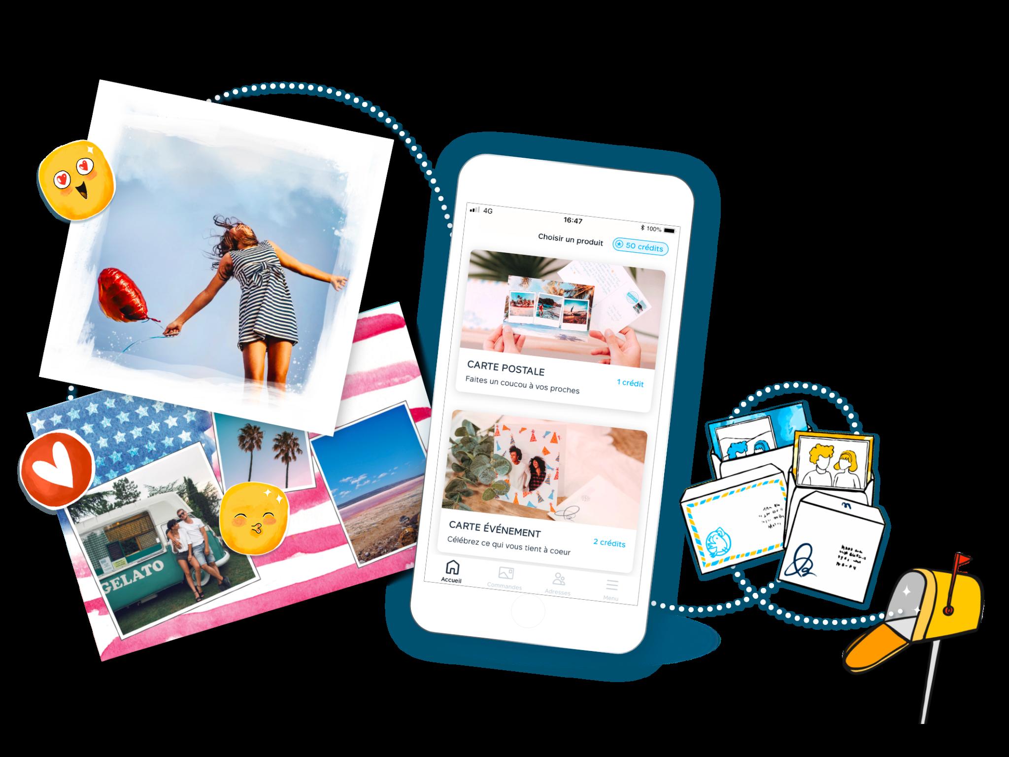 cartes postales et carte evenement Fizzer avec enveloppes