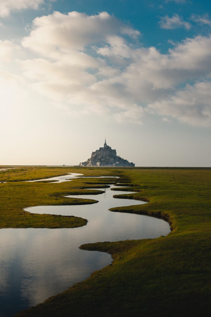riviere face au Mont-Saint-Michel Normandie
