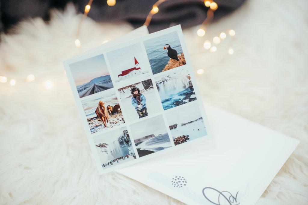 carte multi photos paysage hiver