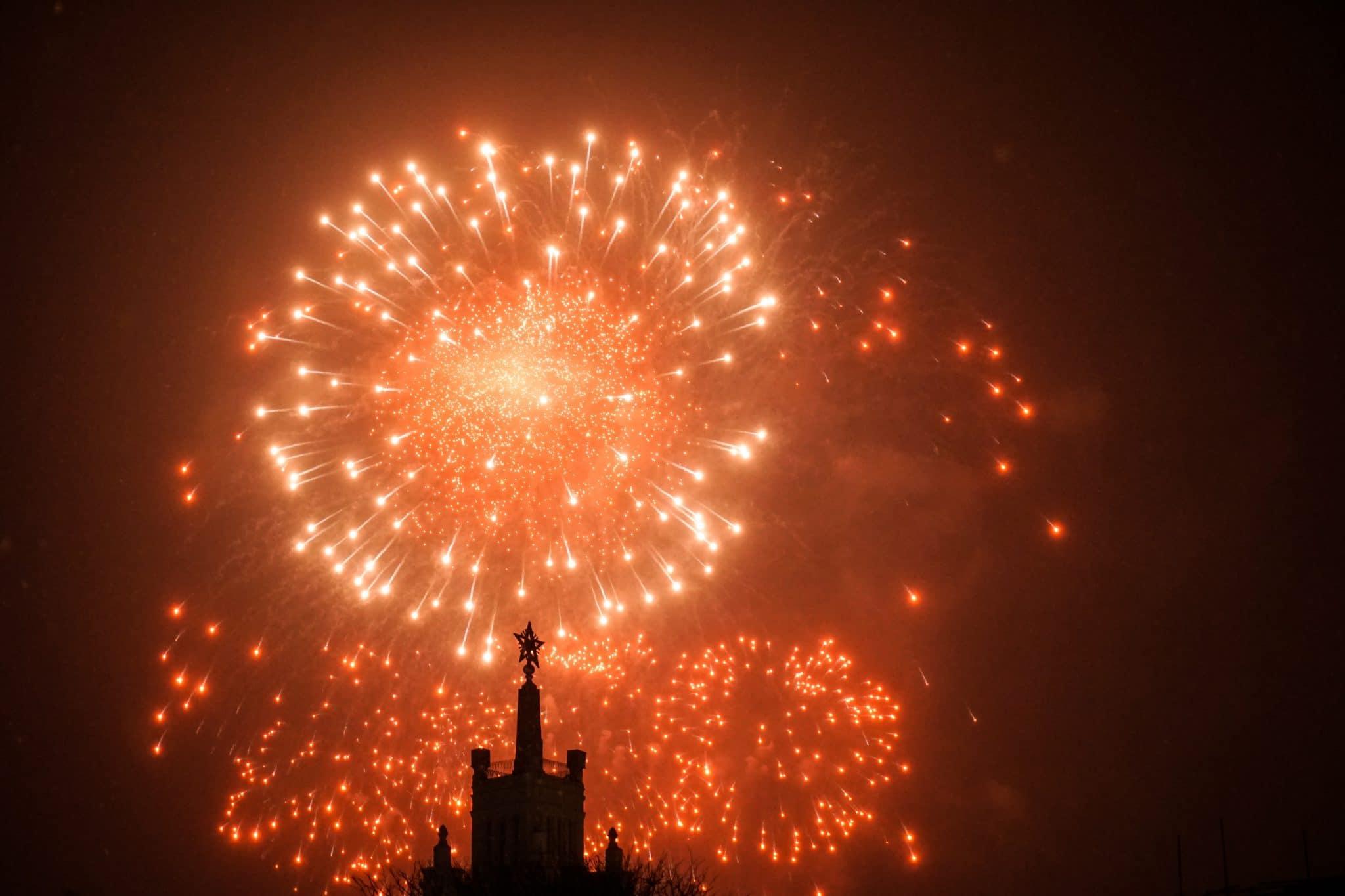 Feu d'artifice réveillon nouvel an
