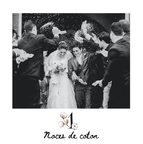 cartes noces de coton 1 an de mariage