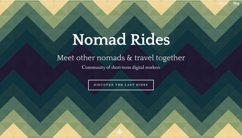 Accueil du blog voyage Nomadrides