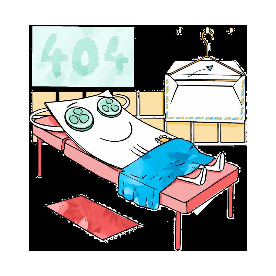 carte postale sur un lit avec enveloppe fizzer