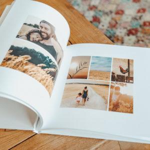 interieur et pages d'un album photo en ligne cree avec Fizzer