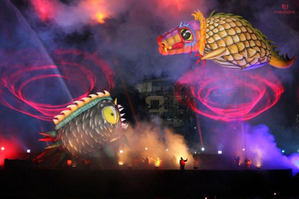 Dragon parade show en Pologne