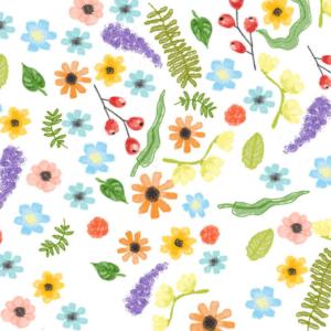 Motif fleuri de carte fete des meres Fizzer 2020