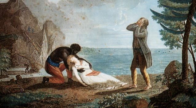 Fin tragique de l'une des plus belles histoires d'amour de Paul et Virginie