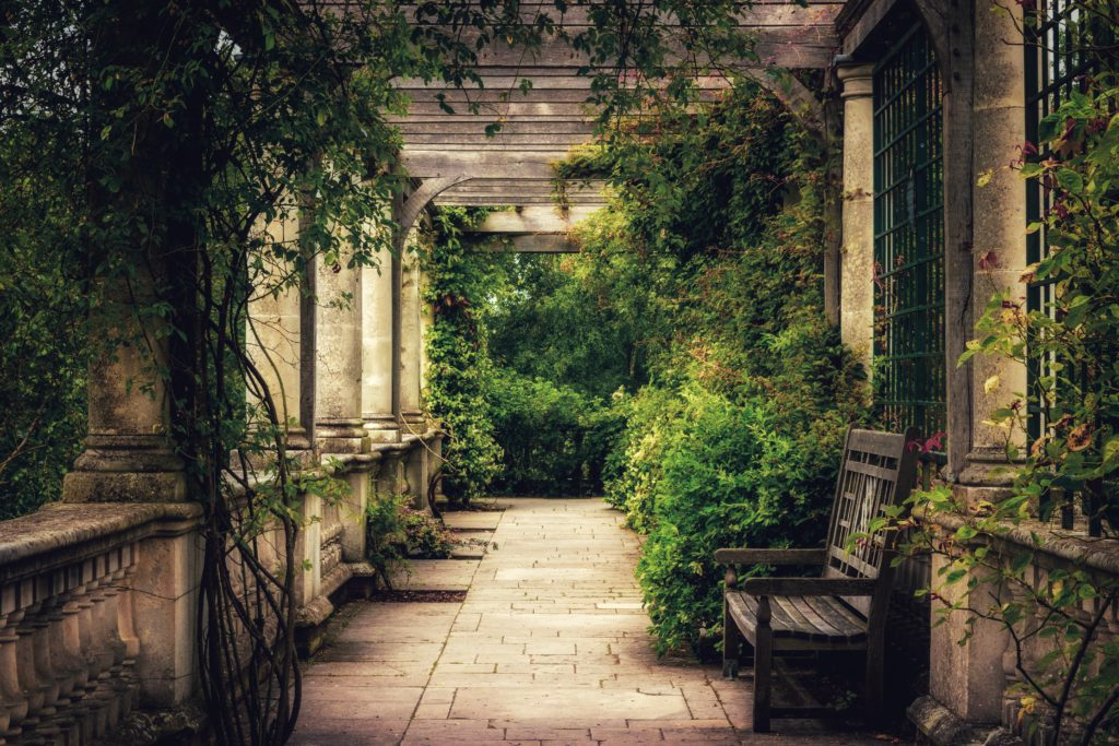 banc jardin et pergola a londres