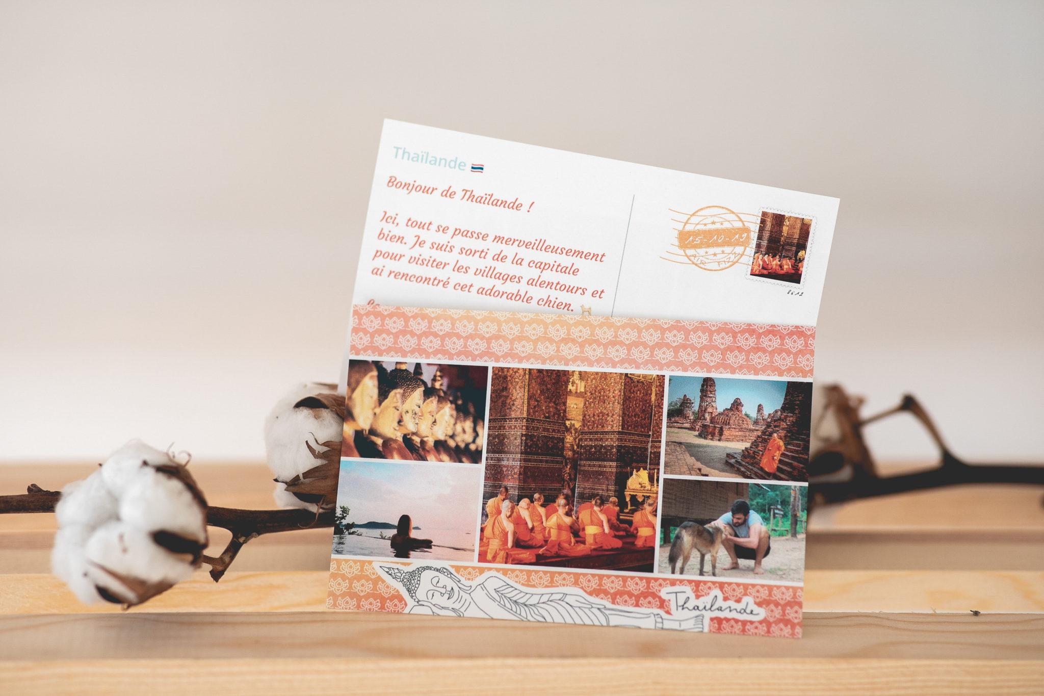 thailande carte postale personnalisee