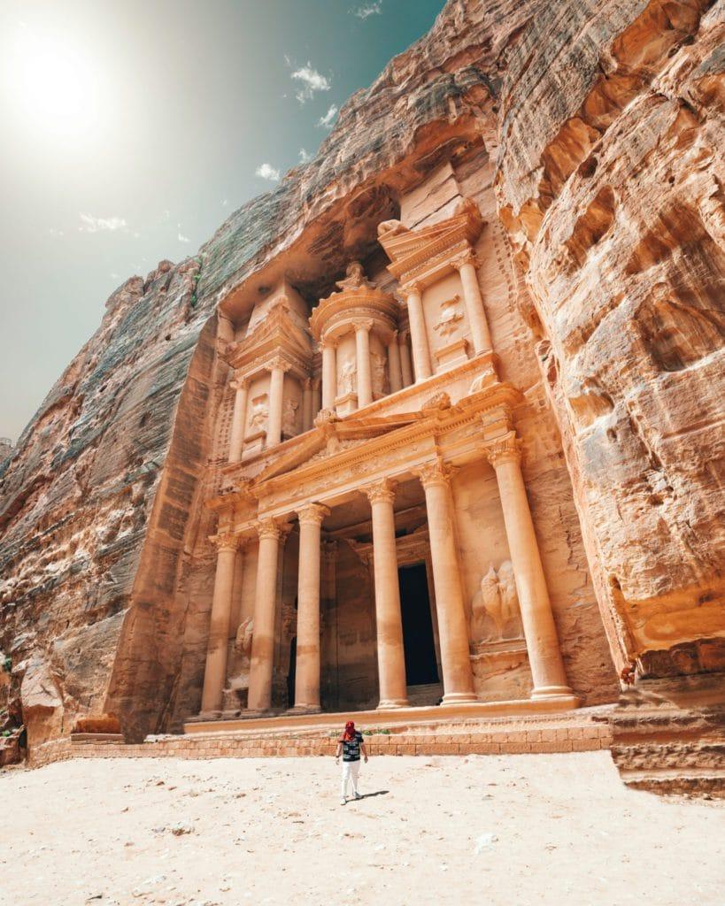 petra, merveille de jordanie, pays à découvrir en septembre