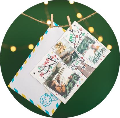 Renne de Noël et enveloppe Fizzer