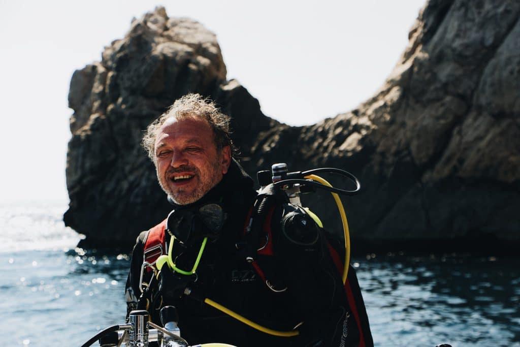 Séance de plongée lors d'un voyage père/fille