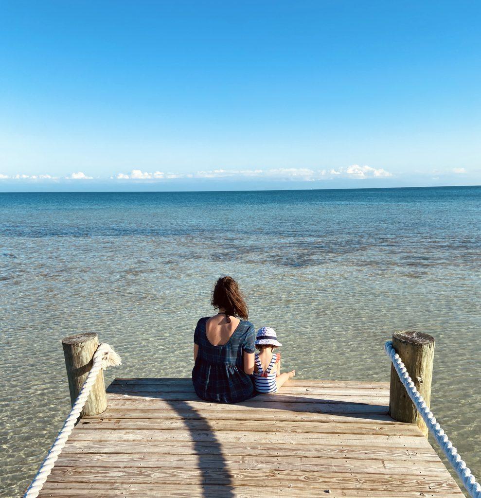 Ponton et eau turquoise Floride