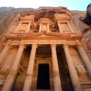 Facade de Pétra en Jordanie
