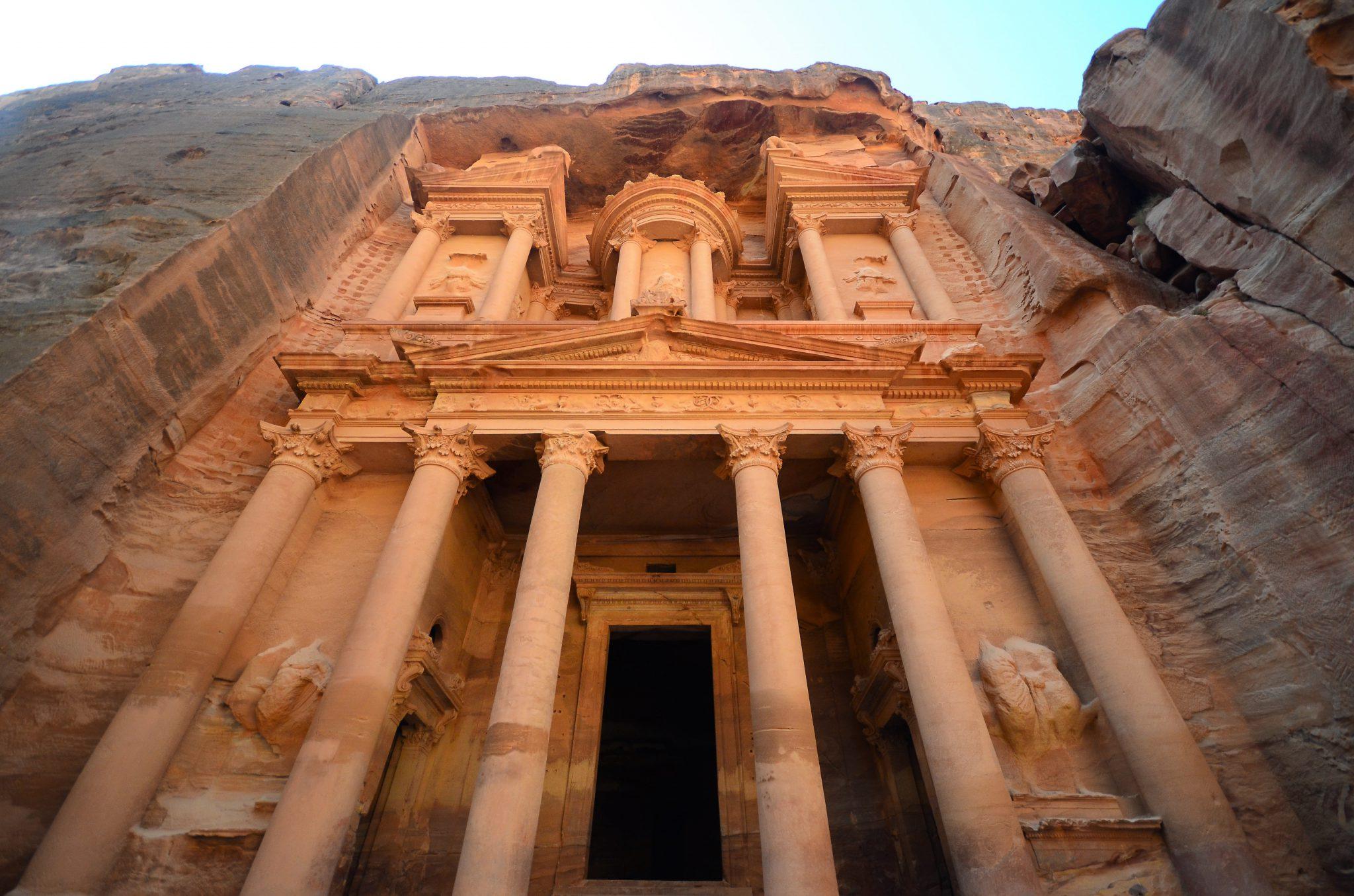 Pétra en Jordanie, l'une des sept merveilles du monde moderne