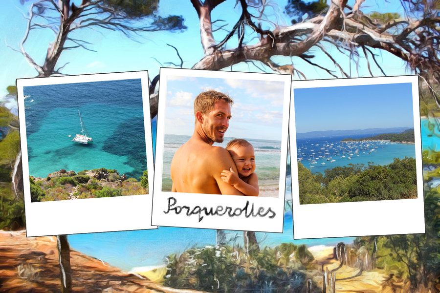 postcard from porquerolles