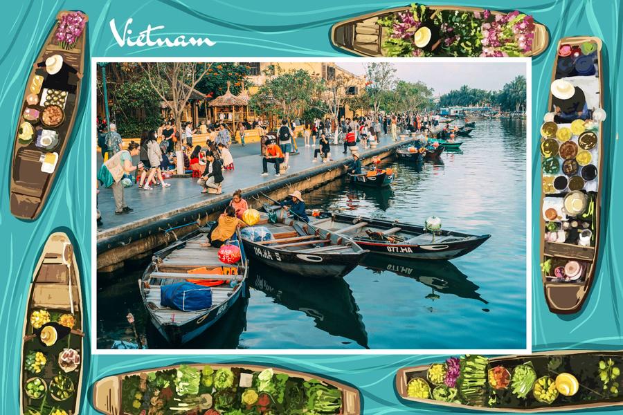 carte postale mekong